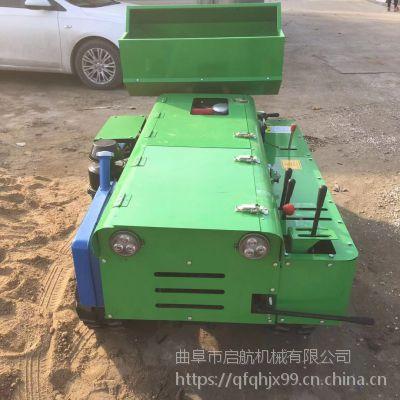 配套五种工具履带式开沟机 启航开沟施肥机 挖沟快速履带松土机