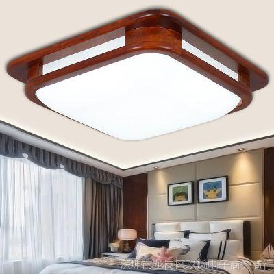 亮亮中式吸顶灯长方形客厅灯卧室简约现代中式灯具中国风书房灯具