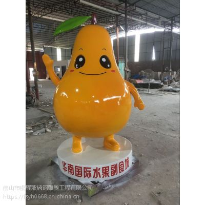 华南国际水果卡通玻璃钢雕塑厂家制作