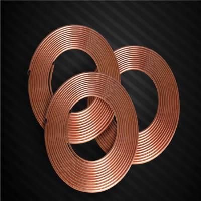 空调用紫铜管 厚壁盘形管 T2红铜管 制冷铜管 厂家报价