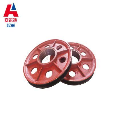 起重机滑轮组来图加工 16T铸钢材料滑轮 双梁主钩副钩专用