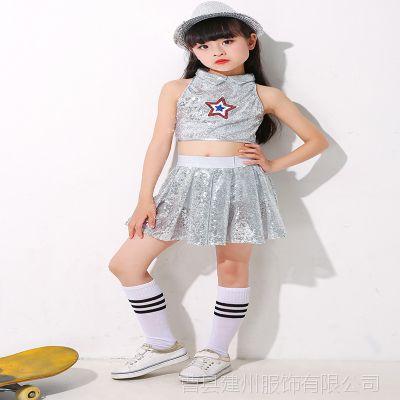 2018六一儿童套装新款少儿舞蹈服儿童嘻哈街舞表演服爵士舞促销
