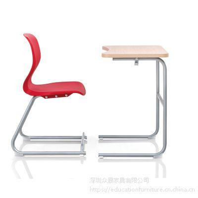 供应深圳众晟家具TR-DG01塑料一体化学生课桌椅