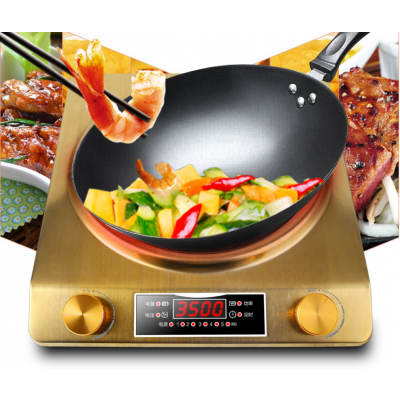 3500W凹面电磁炉家用节能饭店食堂智能凹型大功率商用灶凹面炒炉