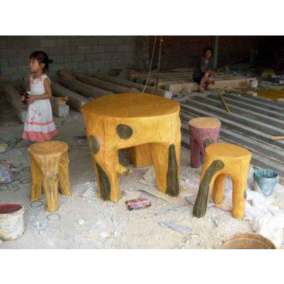 水泥仿木坐凳施工公司