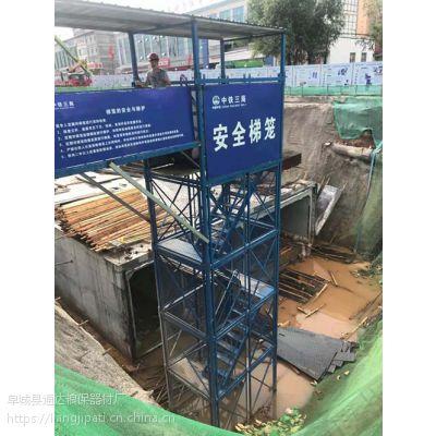 安全爬梯建筑安全梯笼哪家比较专业河北通达生产厂家