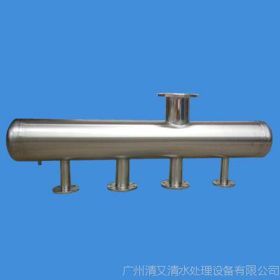 广旗制造 开封市杞县地暖分水器 家用地暖管 不锈钢4路分集水器
