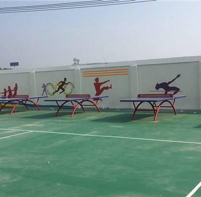 橙与蓝(图)-幼儿园手绘墙-厦门手绘墙