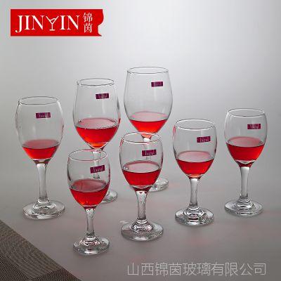 百丽儿 玻璃酒杯批发机制透明圆口高脚葡萄酒高脚杯350ml定制