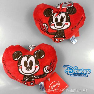 米奇 米妮 米老鼠 情侣心形拉绳 卡包 零钱包 挂件