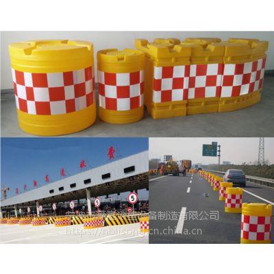 船型防撞墩高速公路收费站安全保障的 反光警示桶专业厂家