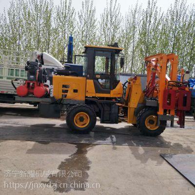 杭州螺旋钻机打桩演示 高速护栏打桩机直销