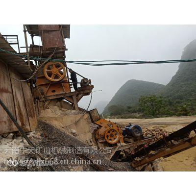 二手日产300吨47颚式破碎机整套砂石料生产线低价处理