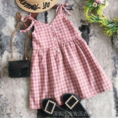 中小儿童公主裙洋气裙子2018新款女童夏季连衣裙童装时尚女孩夏装