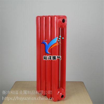 钢制钢二柱暖气片 家用工程批发注水壁挂碳钢散热器 厂家直销