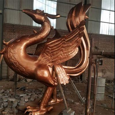 景德镇风水铜凤凰生产商-卫恒铜雕(在线咨询)