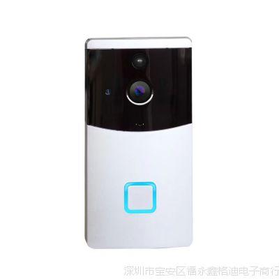 无线监控可视安防门铃远程wifi摄像头双向对讲电池门铃摄像机批发