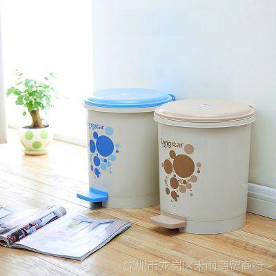 小型脚踩办公室卫生间垃圾桶家用 客厅 卧室 简约有盖厕所 脚