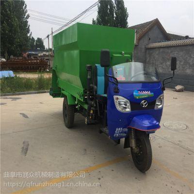 加强版加厚材质撒料车 饲料运输喂牛车 柴油两用出料撒料车