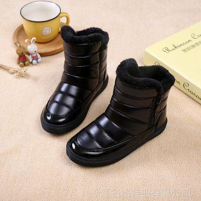 儿童雪地靴女童短靴冬季加绒男童宝宝冬季鞋保暖毛毛鞋韩版 2607