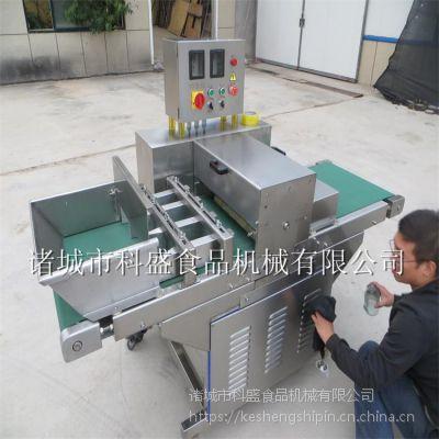 北京变频调速腊肉切片机 全自动连续生产切肉片机设备