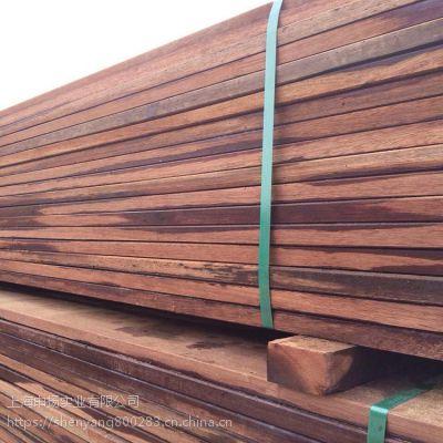 印尼山樟木古建板材价格 山樟木户外建筑木条方上海申扬加工厂