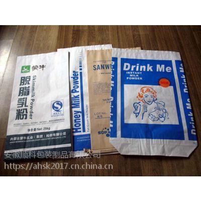 25KG多层牛皮纸方底袋,通用环保食品包装袋,安徽顺科包装直销,提供免费设计,寄样,打样服务