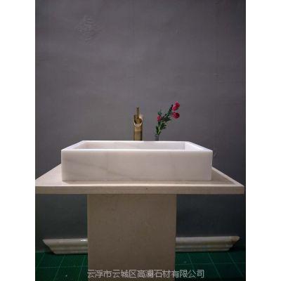 厂家定制大理石洗手盆石头洗手盆台上盆批发零售