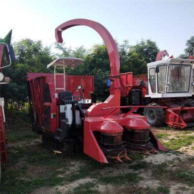 陕西履带式秸秆青贮机 大马力秸秆粉碎回收机 新型高喷饲料青储机械