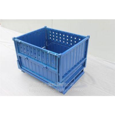 折叠周转箱高品质网箱 物料箱折叠笼 重型料框 仓储笼金属周转箱