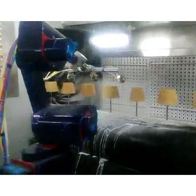 喷涂流水线设备 木制花盆机器人喷漆流水线 机器人涂装生产线