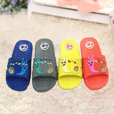 可爱糖果色卡通拖鞋舒适加厚小童拖鞋时尚防滑耐磨儿童拖鞋