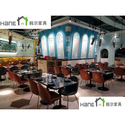 供应【韩尔品牌】酒店餐厅桌子餐厅长方形桌子中餐厅金属餐桌 定做
