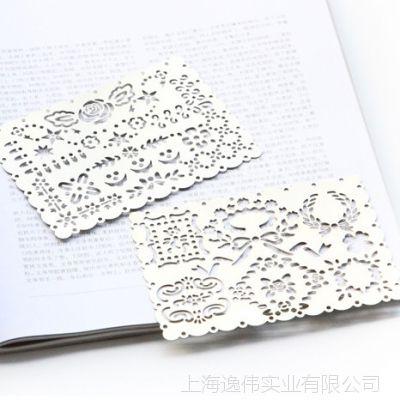 金属镂空花边尺文艺清新便携绘图涂鸦尺便携手帐模板尺