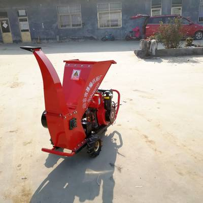 移动式鲜树枝粉碎机 果园树枝粉碎机 13马力汽油动力碎枝机