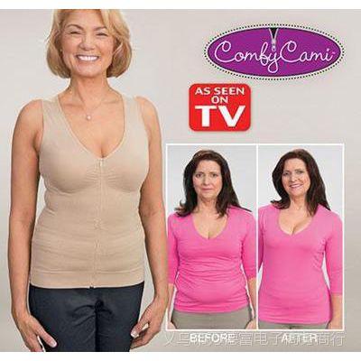 拉链塑身内衣 孕妇塑身comfy cami新款美体收腹背心上衣