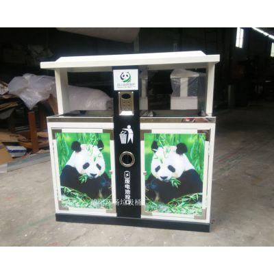 熊猫卡通垃圾桶 户外垃圾箱 钢制垃圾桶定做 四川垃圾桶生产厂家