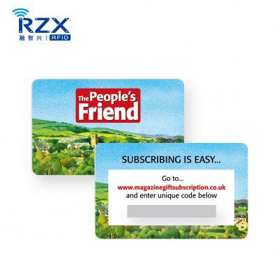 实力厂家供应刮刮卡/密码贴标卡/刮奖卡 彩色印刷 质量保证