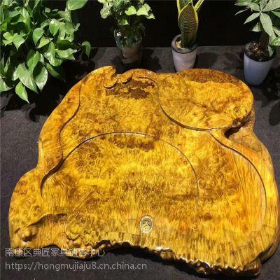 黄金樟精美老料实木茶盘木制瘤疤茶板茶托家用客厅阳台会客泡茶板