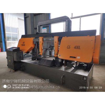 双立柱结构系列旋转角度锯床G-400 济南宁瑞厂家直销高效率切割金属带锯床
