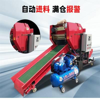 半自动打捆包膜机 润华 饲草包膜的贮存机 自动传料的打捆机