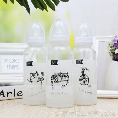 创意可爱学生奶嘴玻璃杯创意便携儿童奶瓶日用百货车载牛奶杯批发