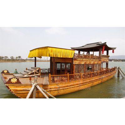 【梓兴木船】木船制造龙头企业 14米电影柳如是双层观光船 画舫木船 影视摄影船