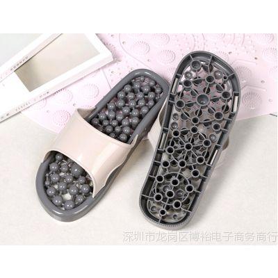 夏浴室防滑拖鞋情侣款按摩防臭居家室内洗澡漏水透气镂空速干男鞋