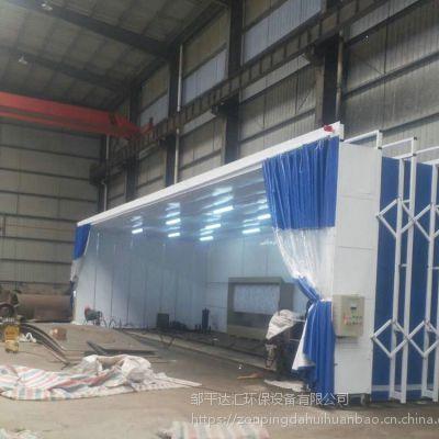 全自动移动式伸缩房 干式喷漆室 移动打磨房