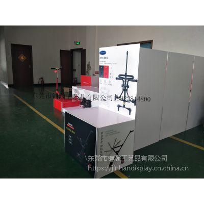 儿童车塑料展示台定制工厂 锦瀚展示专业设计促销架和助销物料东莞工厂专业制作