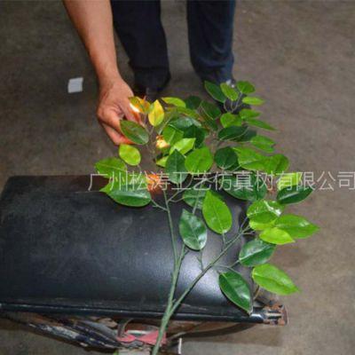 防火榕树叶厂家定做 广州防火阻燃榕树 假树叶仿真树叶厂家批发