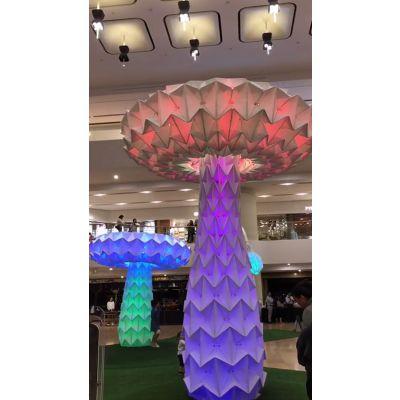 厂家直销艺术互动暖场道具 青和文化 LED感应变形蘑菇树