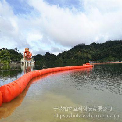 湖南中底水头电站拦污排 水库飘浮物浮渣拦截浮筒