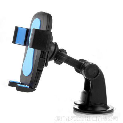 工厂直销车载手机支架 玻璃吸盘式手机座仪表台导航支架硅胶底座